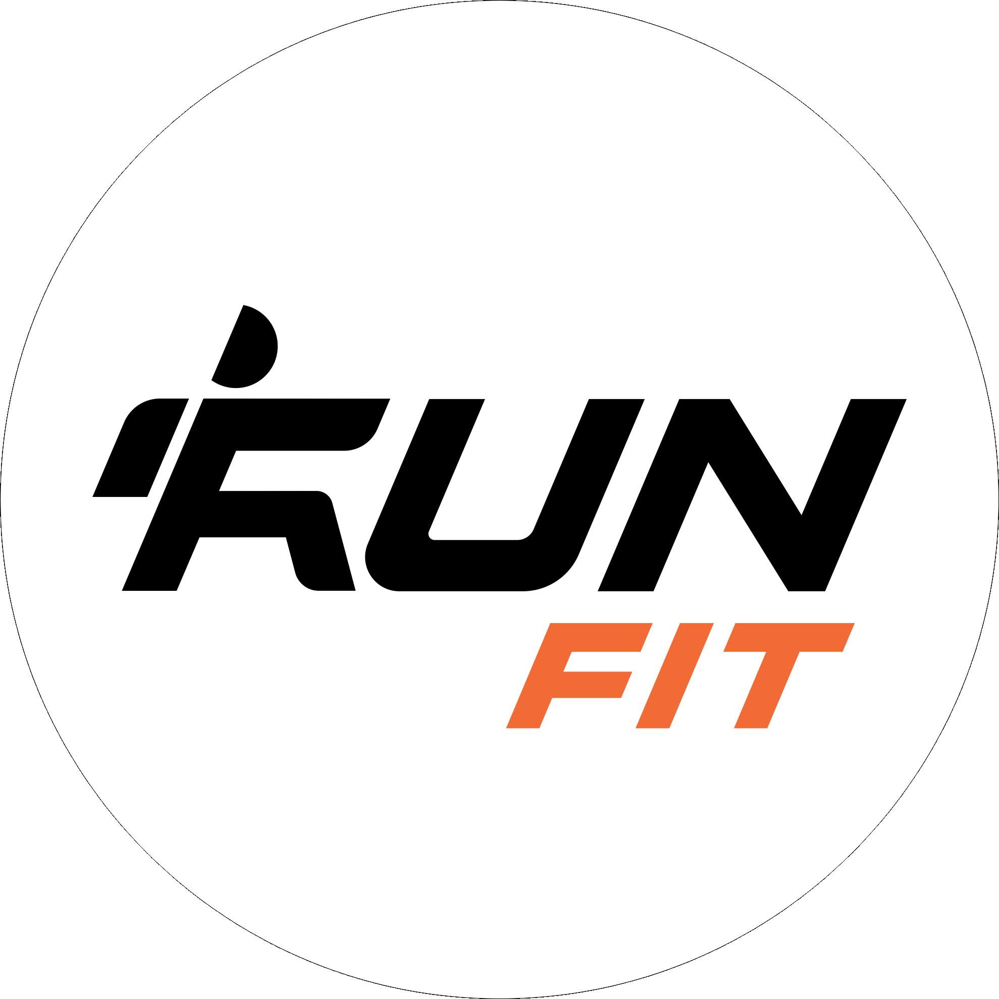 Logo RunFit Borde Negro Fino
